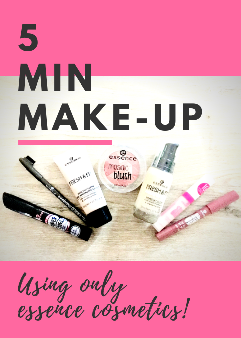 Easy and fast budget make-up routine for those in a hurry. Perfect for the Mom on the run who still wants to looks put together. #budgetmakeup #fastandeasymakeup #essencecosmetics