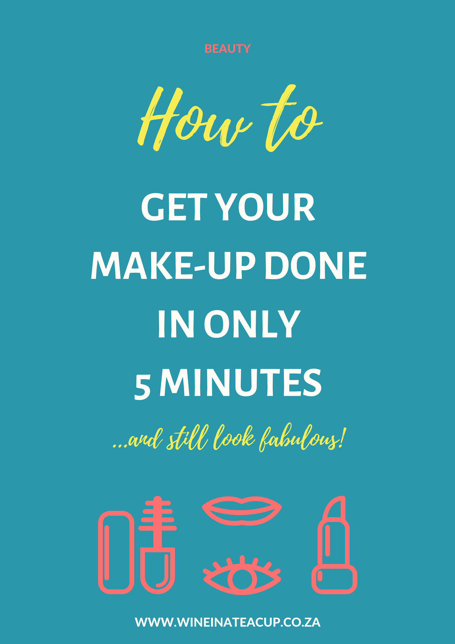 How to get your make-up done in ouly 5 minutes and still look fabulous! Fast and easy make-up tips for those pushed for time. #mommakeup #mombeauty #mumbeauty #momroutine #timecrunch #essencecosmetics #beautyinaflash