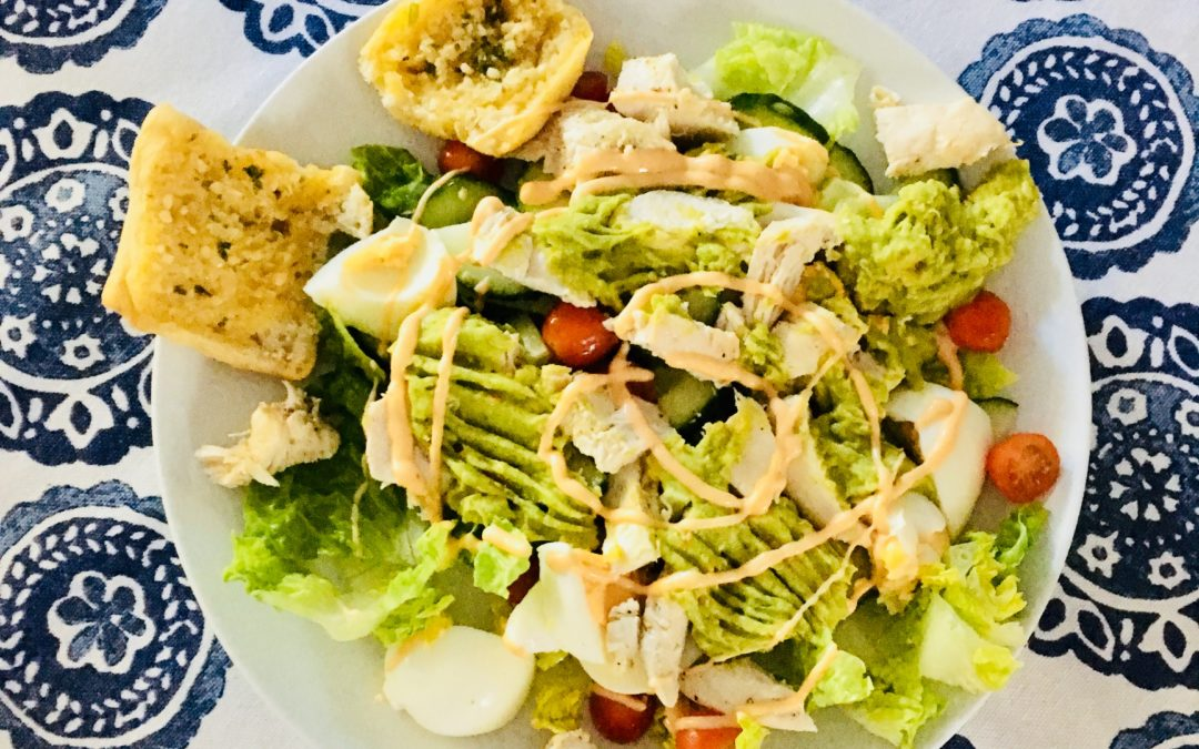 Chicken, egg and avo salad recipe