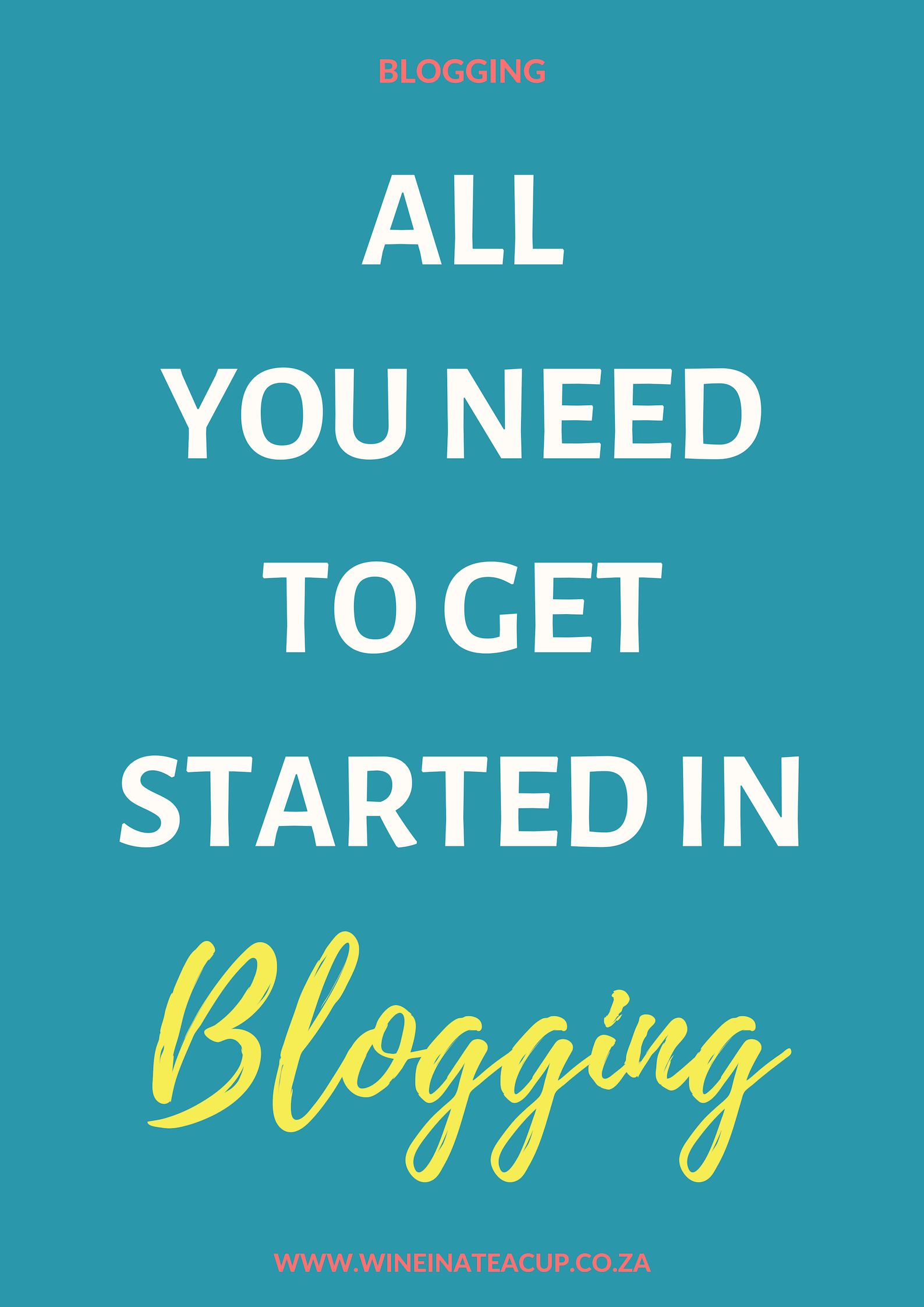 All you need to get started in blogging. Blogging resources for new bloggers. How to start a blog. No waffle, no faff. Just resources! #blogging #bloggingresources #newblogger