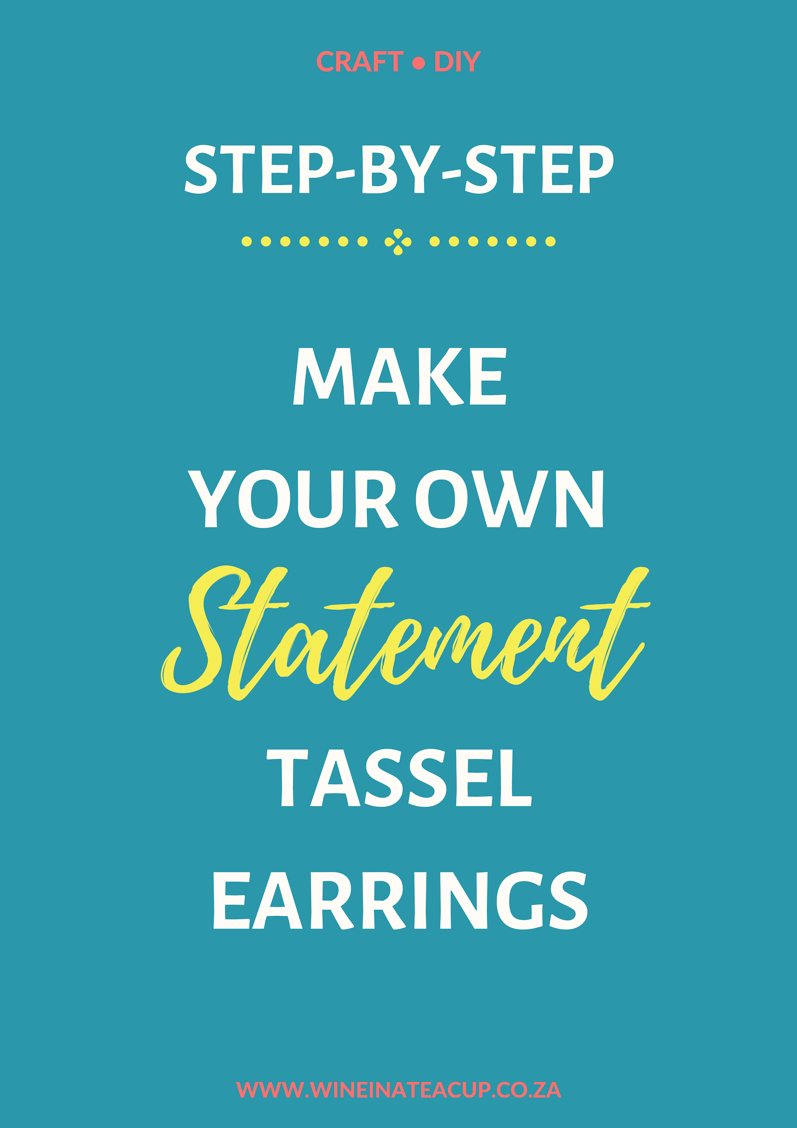 Step by Step instructions to make your own statement tassel earrings! #diy #statementearrings #diyjewelry