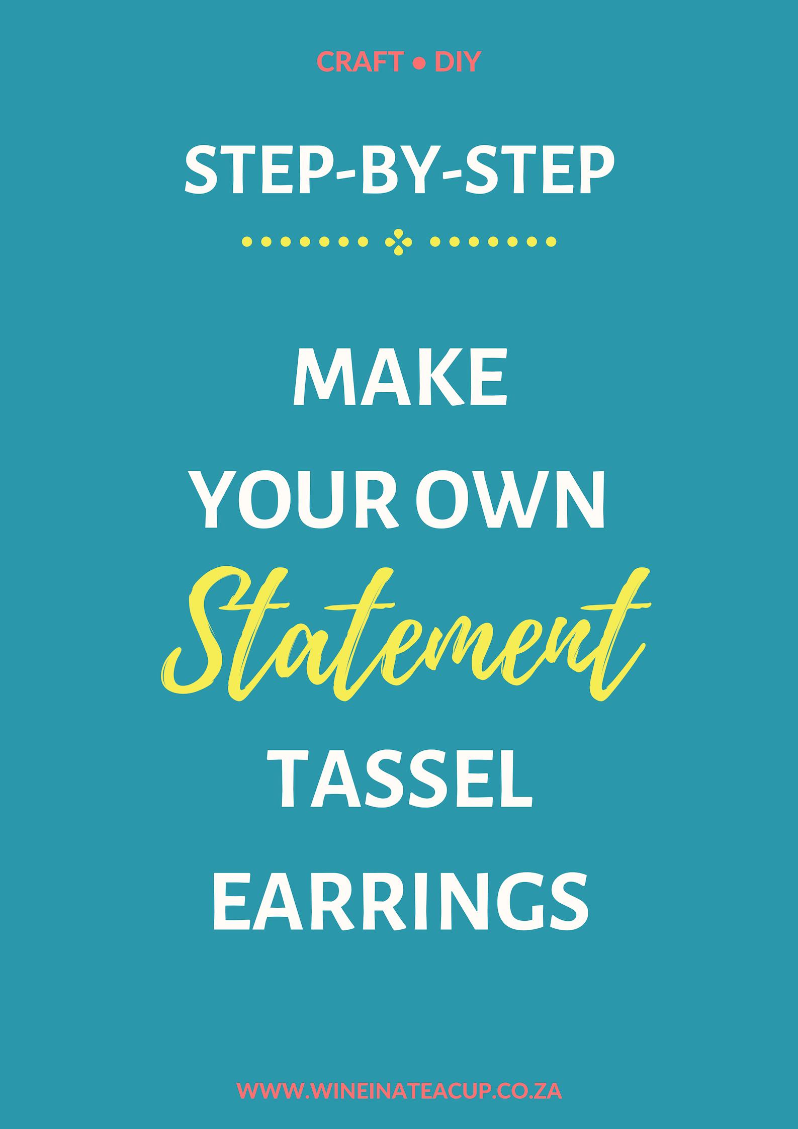 Step by Step instructions to make your own statement tassel earrings! #diy #statementearrings #diyjewelry