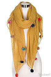 fun accessories. pom pom scarf